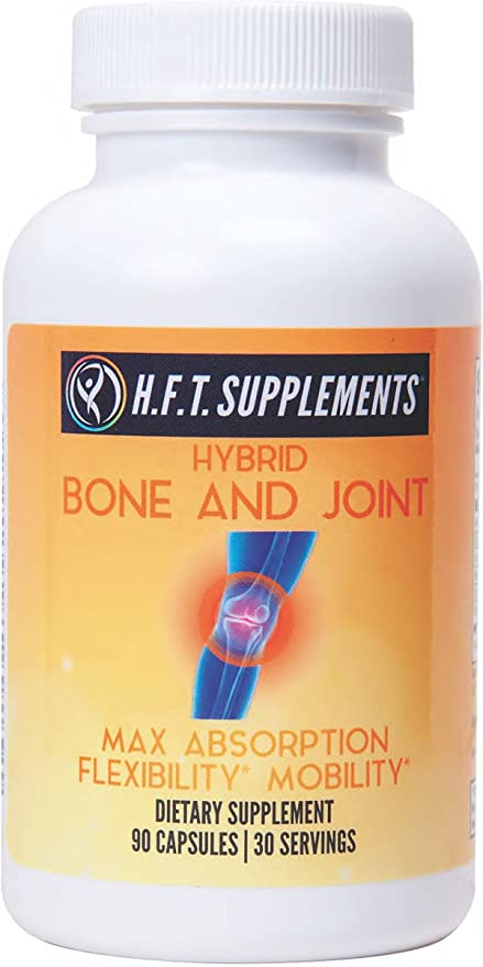 Glucosamine Chondroitin with MSM Turmeric Curcumin Boswellia Frankincense Vitamin D Joint Support by H.F.T. Supplements | May Support Joint Pain Relief & Help Inflammatory Response with Antioxidants