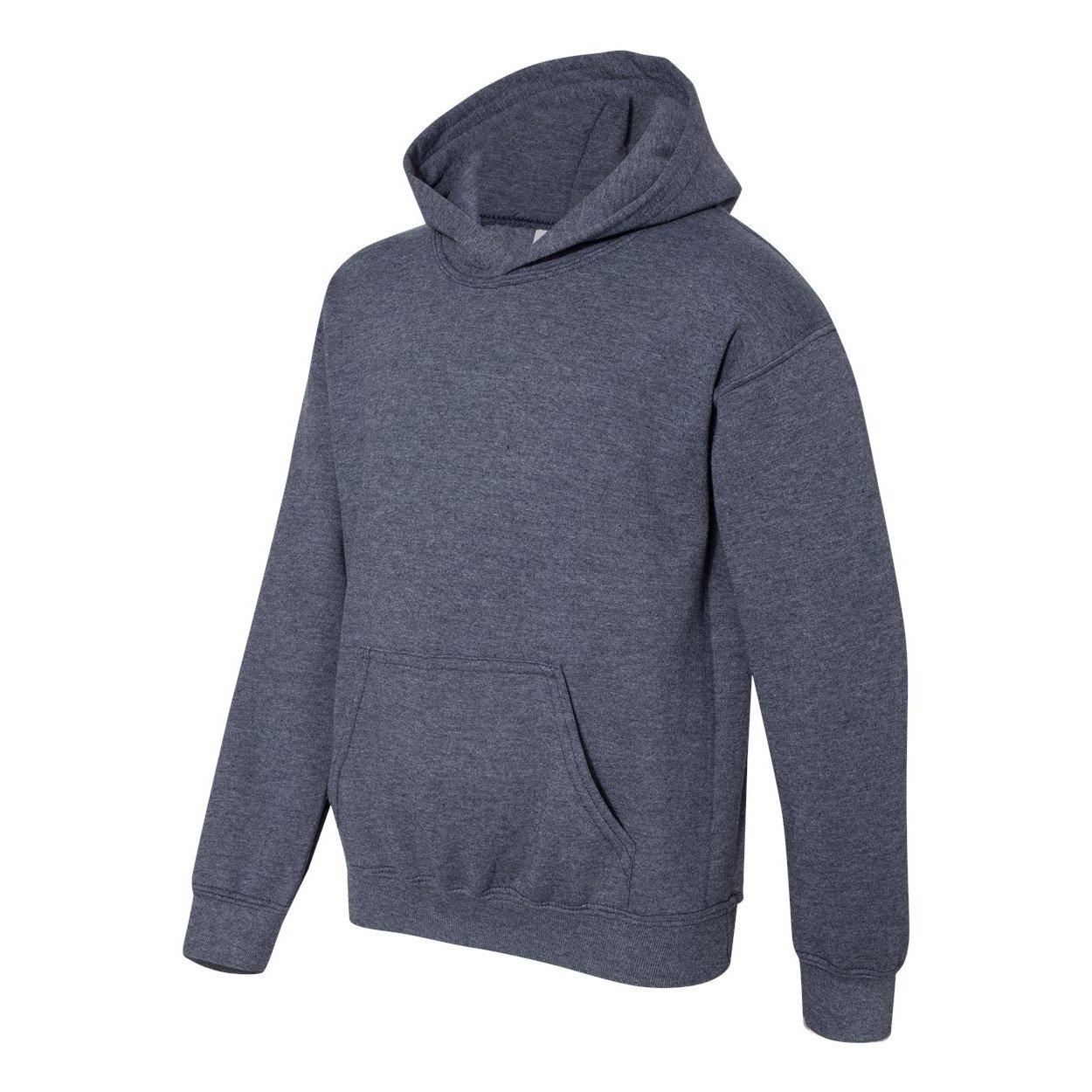 Gildan Heavy Blend Childrens Unisex Hooded Sweatshirt Top//Hoodie Navy XL