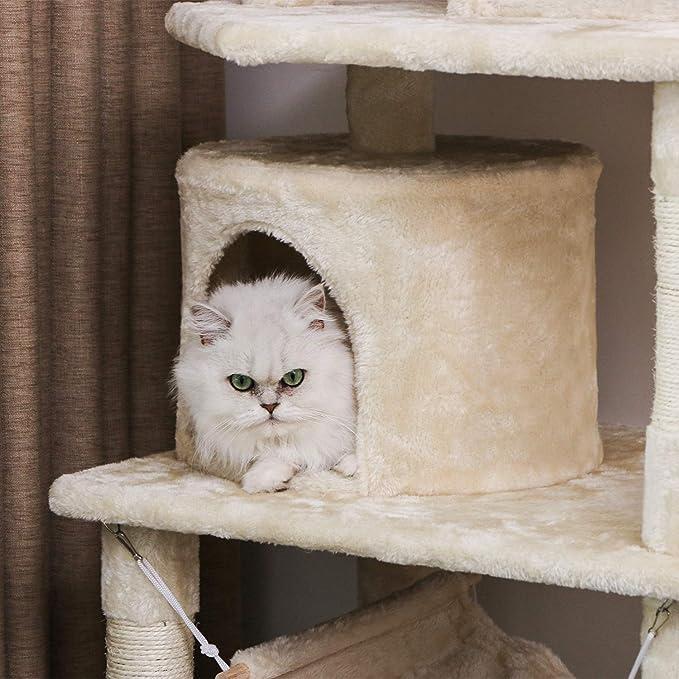 Amazon.com: BEWISHOME Árbol de gato con postes de rascador ...