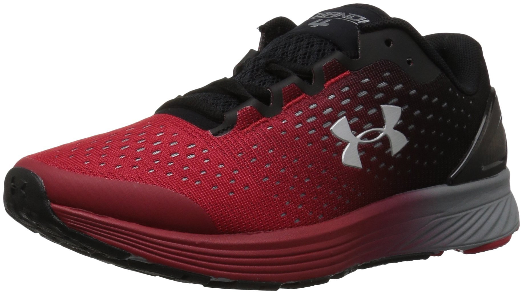 Under Armour Boys' Grade School Charged Bandit 4 Sneaker, Red (602)/Black, 4.5