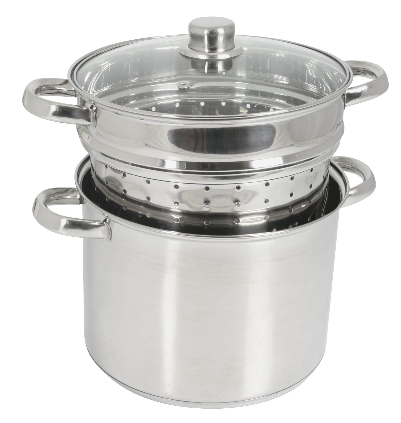 Crealys 504626 Pasta Cooker with Glass Lid 8 L Diameter 24 cm Olympe