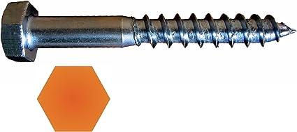 100 x CAB FASTENING Sechskant-Holzschrauben DIN 571 Stahl 7 x 130 feuerverzinkt
