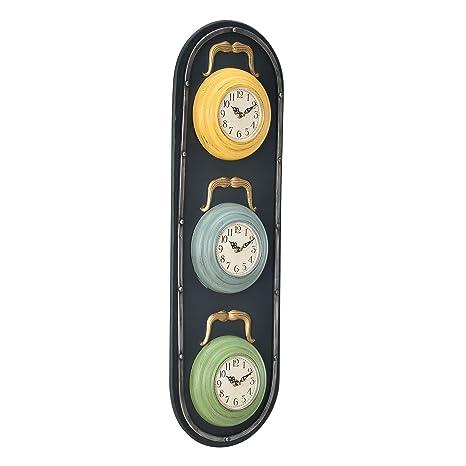 3a0b053c412a  en.casa ® Reloj de pared decorativo diseño semáforo - con pantalla  analógica
