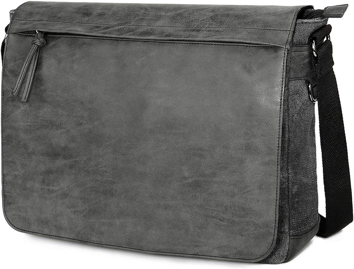 Men Briefcase Messenger Pack 13 Inch Computer Bag Handbag Large Capacity Waterproof Shoulder File Bag,Black-OneSize