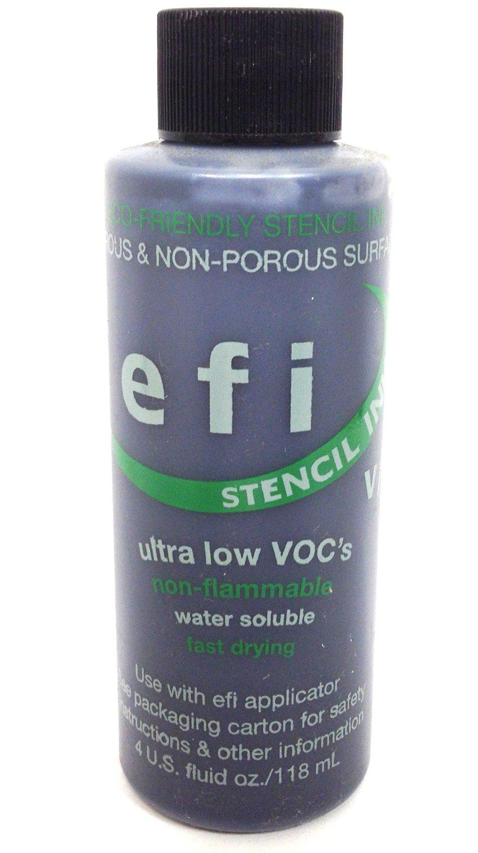 MARSH EFI Stencil Ink, 4 oz Bottle, Black (Pack of 12) by Marsh