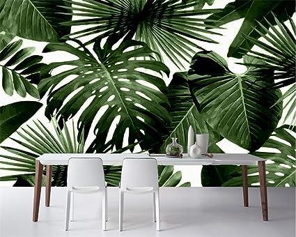 Carta Da Parati Foresta Tropicale : Lqwx moderno custom 3d wallpaper foresta pluviale tropicale palm