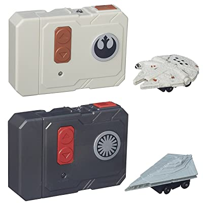 Star Wars The Force Awakens Micro Machines Millennium Falcon + First Order Star Destroyer RC Vehicles - 2pc Set: Toys & Games