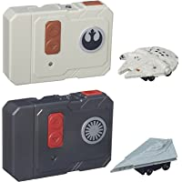 Star Wars The Force Awakens Micro Machines Millennium Falcon + First Order Star Destroyer RC Vehicles - 2pc Set