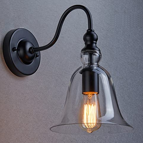 Glass bell wall sconce motent industrial retro clear glass bell glass bell wall sconce motent industrial retro clear glass bell wall lamp shade gooseneck wall aloadofball Images