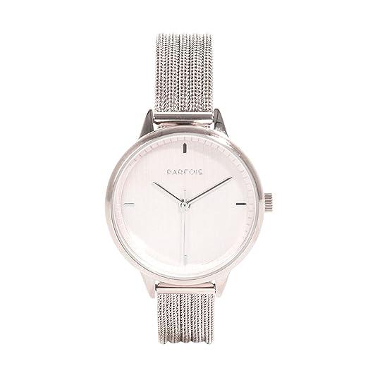 Parfois - Reloj Silver Tray - Mujeres - Tallas M - Plateado: Amazon.es: Relojes
