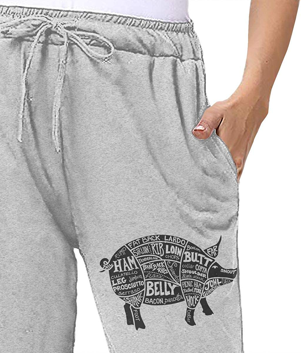 Monwe Cuts of Pork Butcher Girls Autumn Winter Long Trousers Daily Sports Joggers Pants