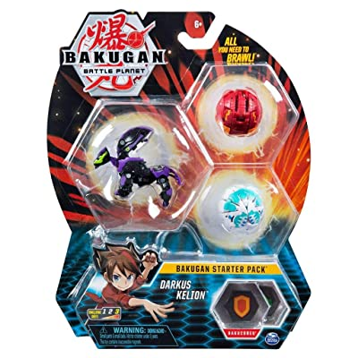 Bakugan Starter Pack 3-Pack, Darkus Kelion, Collectible Action Figures, for Ages 6 and Up: Toys & Games