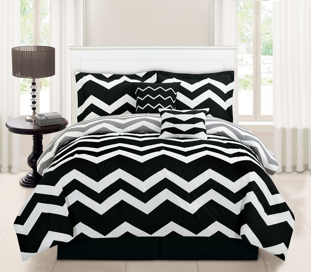 amazing sheets black white and comforter chevron bedding double color queen
