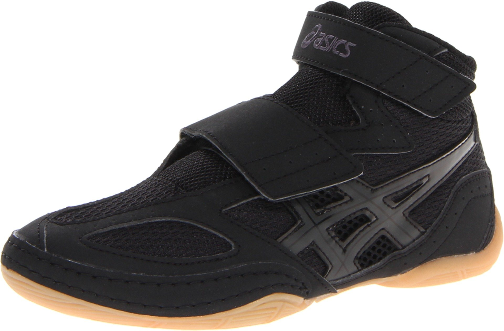 ASICS Matflex 4 GS Wrestling Shoe (Toddler/Little Kid/Big Kid),Black/Onyx,1.5 M US Little Kid by ASICS