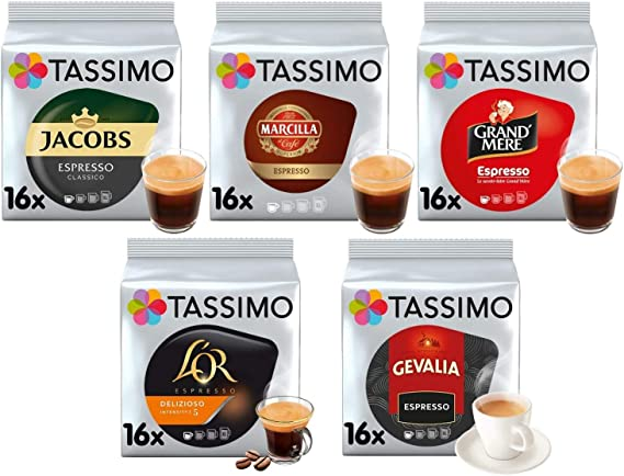 Tassimo Café Espresso Selección - Jacobs Espresso Classico/Gevalia ...