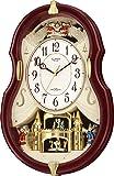 リズム時計 RHYTHM  Small World 電波 掛け時計 スモールワールドコンチェルDX からくり時計 茶メタリック色 4MN495RH06
