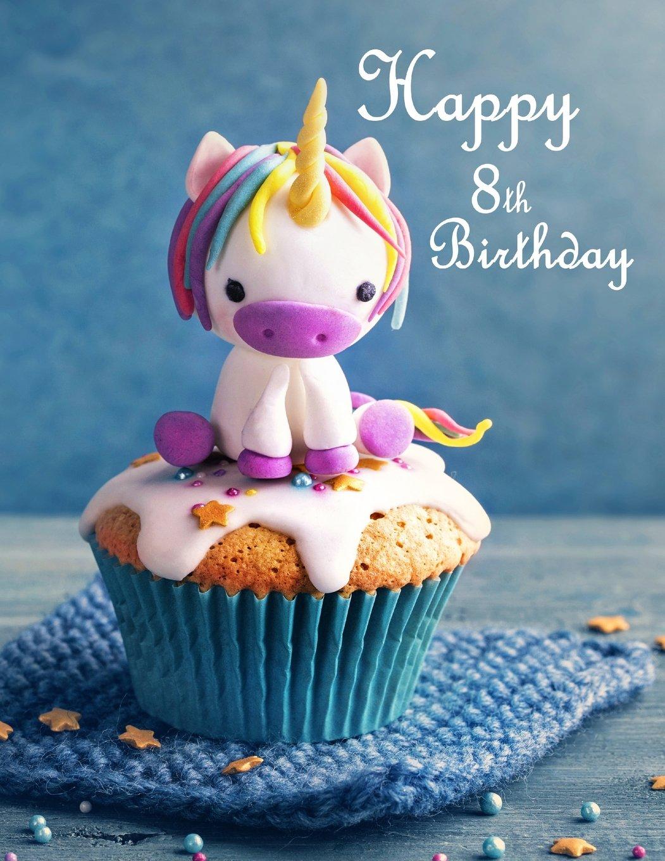 Brilliant Amazon Com Happy 8Th Birthday Journal Notebook Diary 105 Personalised Birthday Cards Veneteletsinfo