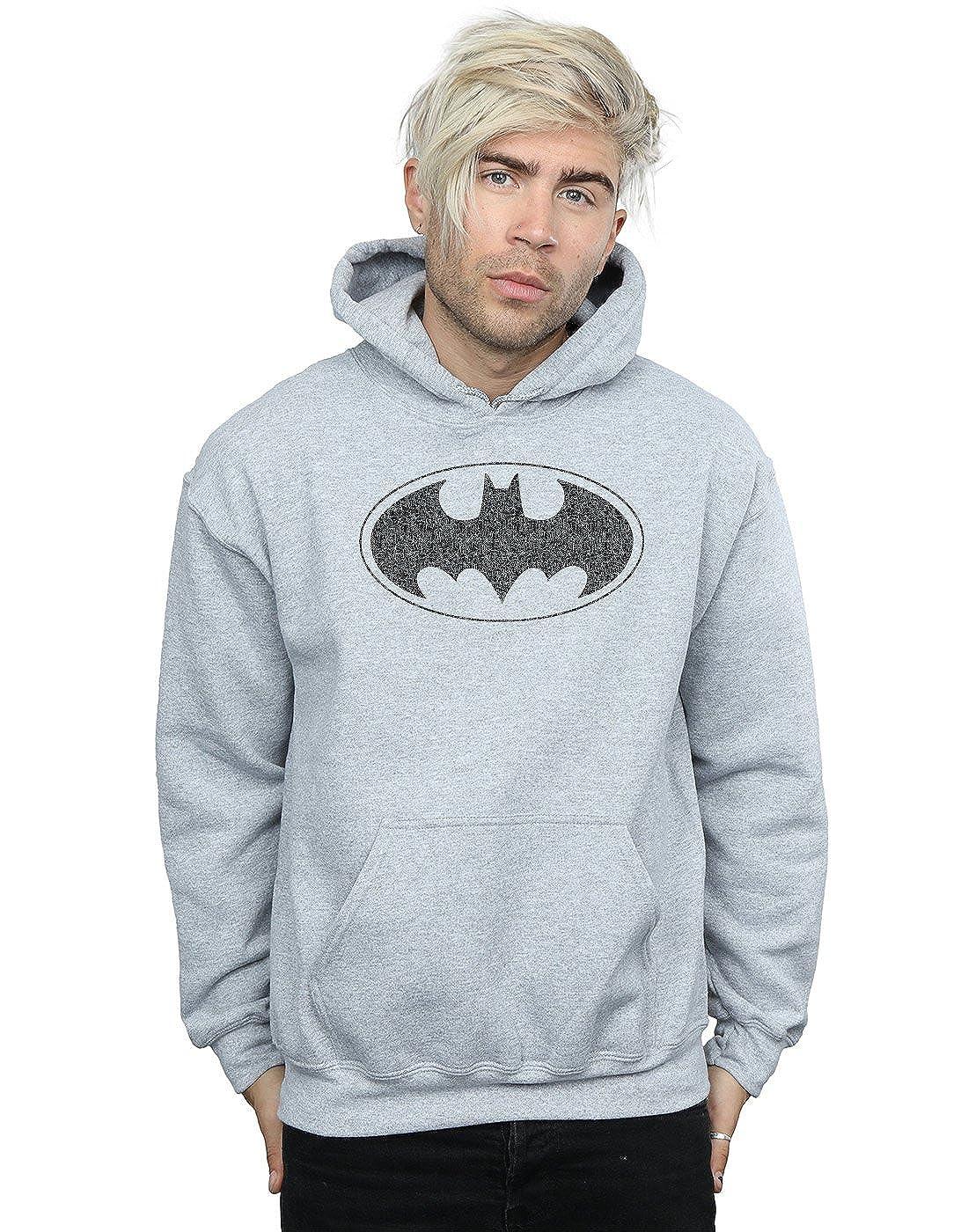 DC Comics Herren Batman One Colour Logo Kapuzenpullover