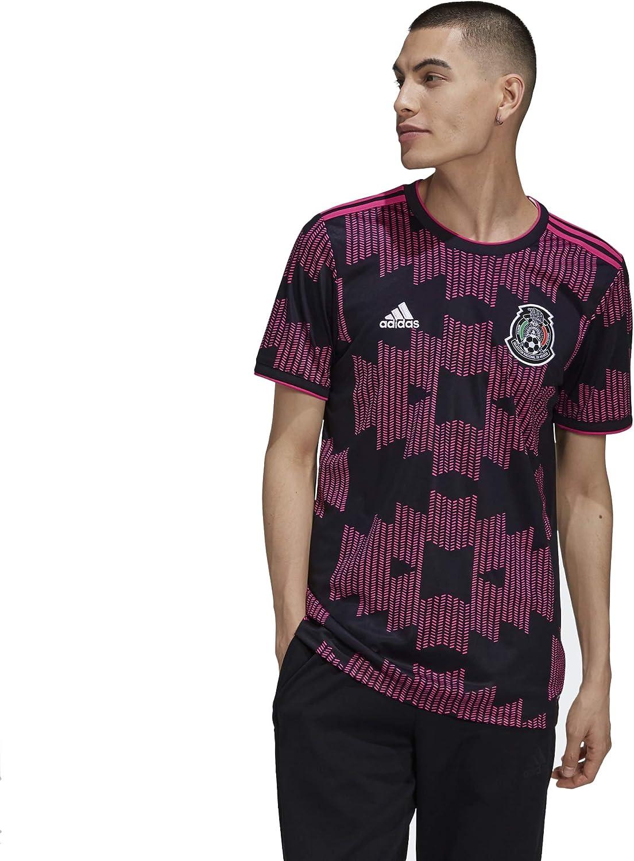 adidas 2021-2022 Mexico Home Jersey - Black-Real Magenta