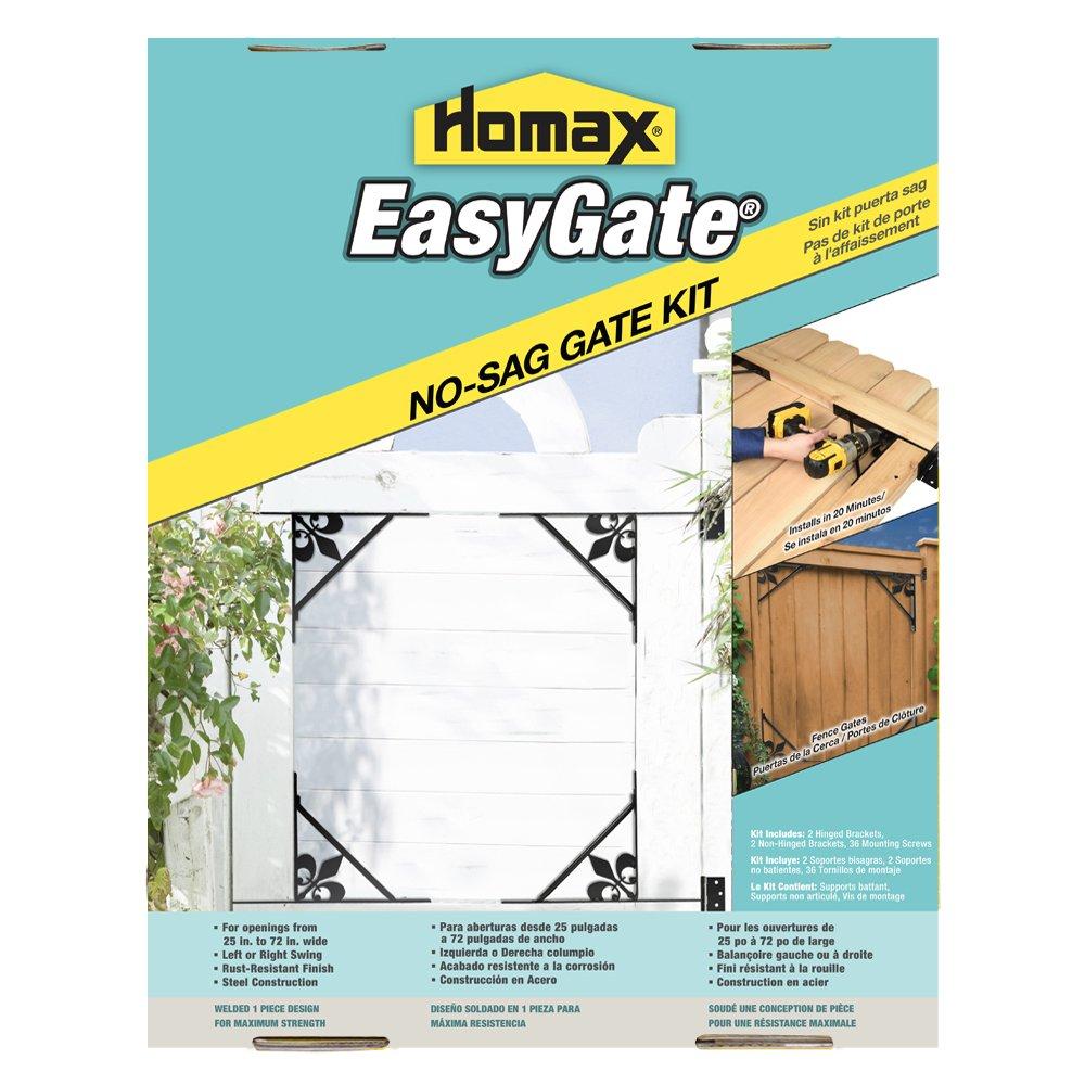 Gate Bracket Kit, 4 Bracket, Fleur-de-Lis Design Easy Gate, for Gate Repair and New Decorative Gates
