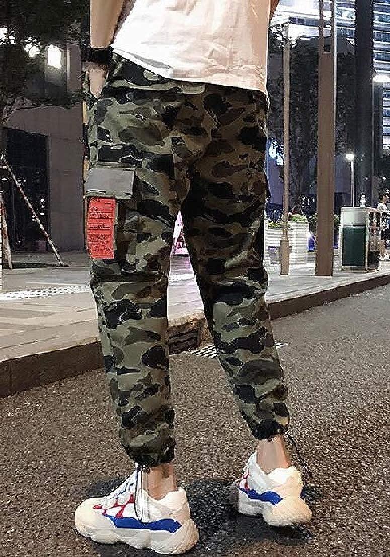 XXBlosom Mens Camouflage Sports Trousers Casual Jogger Elastic Waist Pants