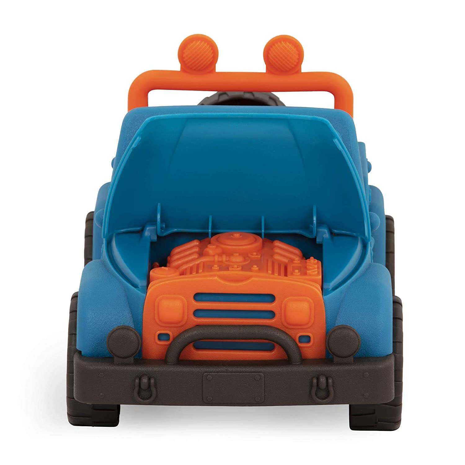Wonder Wheels by Battat 100/% Recyclable 4 X 4 Blue Off-Road Toy Truck with Spare Tire /& Detailed Engine for Toddlers Age 1 /& Up