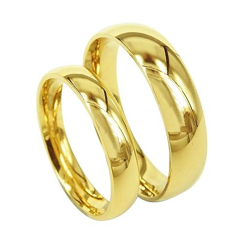 Everstone Anillos de compromiso anillos de bodas anillos de bodas azul anillo pulidos Tamaño: 7