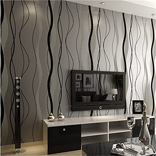 YC Simple And Modern Non Woven Stripe Wallpaper Bedroom Living Room TV Background Wall Paper