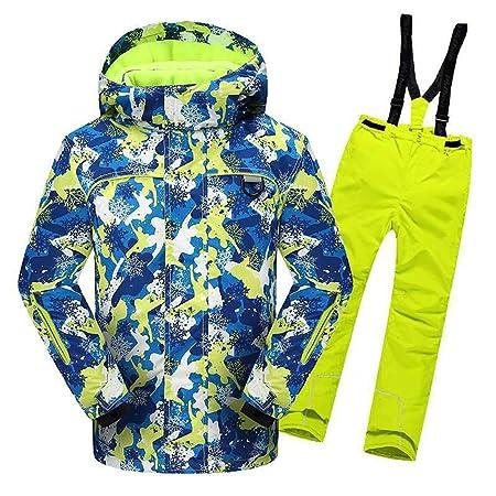 Chaqueta y pantalones de esquí para chicos a prueba de ...