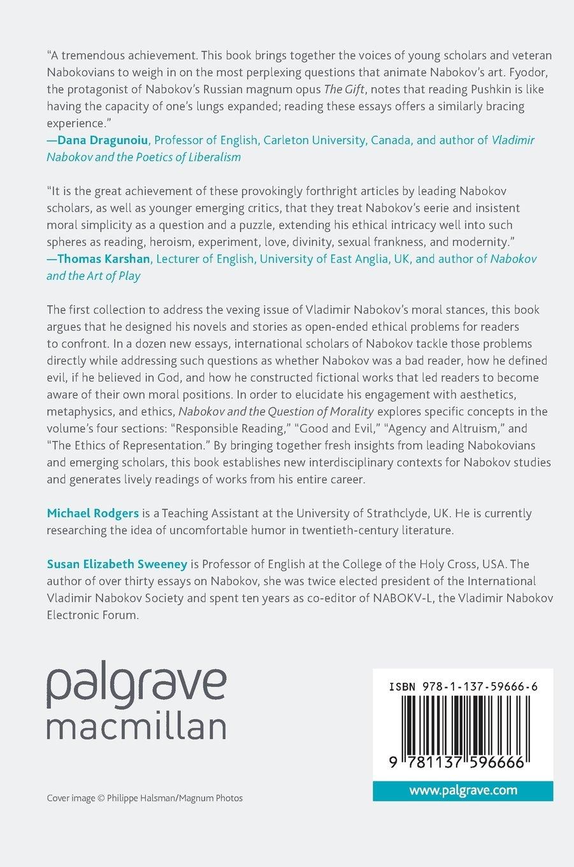 nabokov and the question of morality aesthetics metaphysics and nabokov and the question of morality aesthetics metaphysics and the ethics of fiction amazon co uk michael rodgers susan elizabeth sweeney