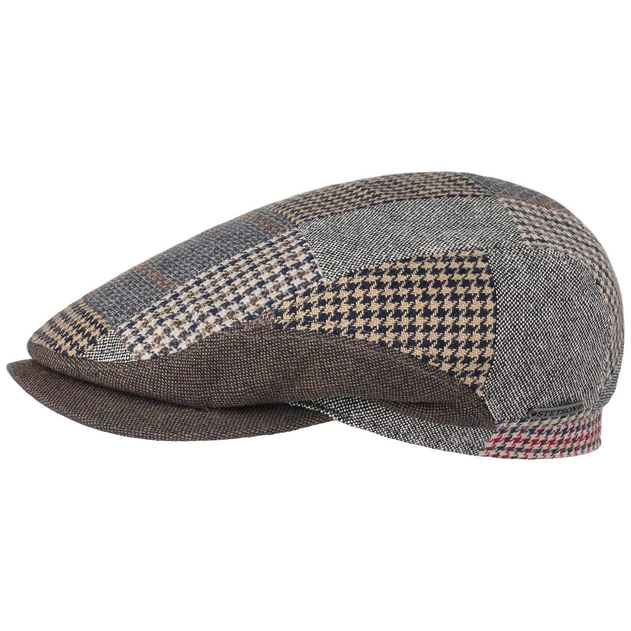 721a117d9af Stetson Tecopa Patchwork Flat Cap Ivy hat (62 cm - Brown-Beige)   Amazon.co.uk  Clothing