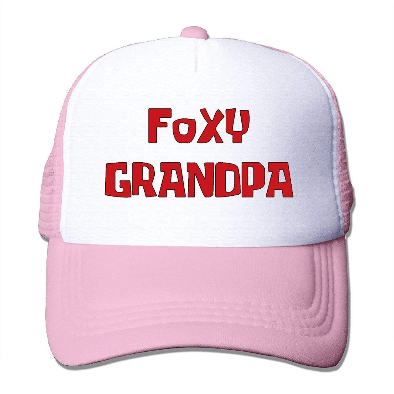 rongxincailiaoke Foxy Grandpa Unisex Mesh Truck Hat Snapback Hats ...