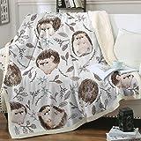 Zevrez Hedgehog Blanket, Soft Kids Throw Blanket with Super Cute Hedgehog Pattern Hedgehog Gifts for Girls Women Hedgehog Lov