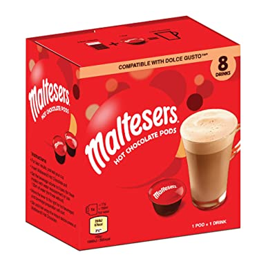Maltesers Hot Chocolate Dolce Gusto Compatible Pods 8s