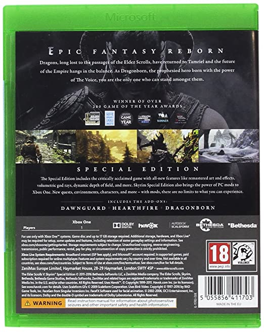 Elder Scrolls V: Skyrim Special Edition (Xbox One): Amazon