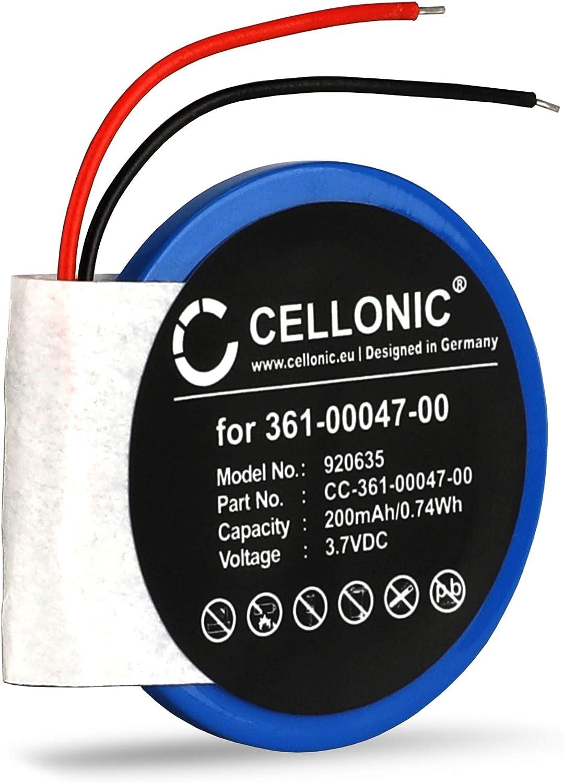 CELLONIC® Batería Premium Compatible con Garmin Approach S1 Approach S3 Approach S4 Forerunner 110 Forerunner 210 Forerunner S1, 361-00047-00 361-00064-00 200mAh Pila Repuesto bateria