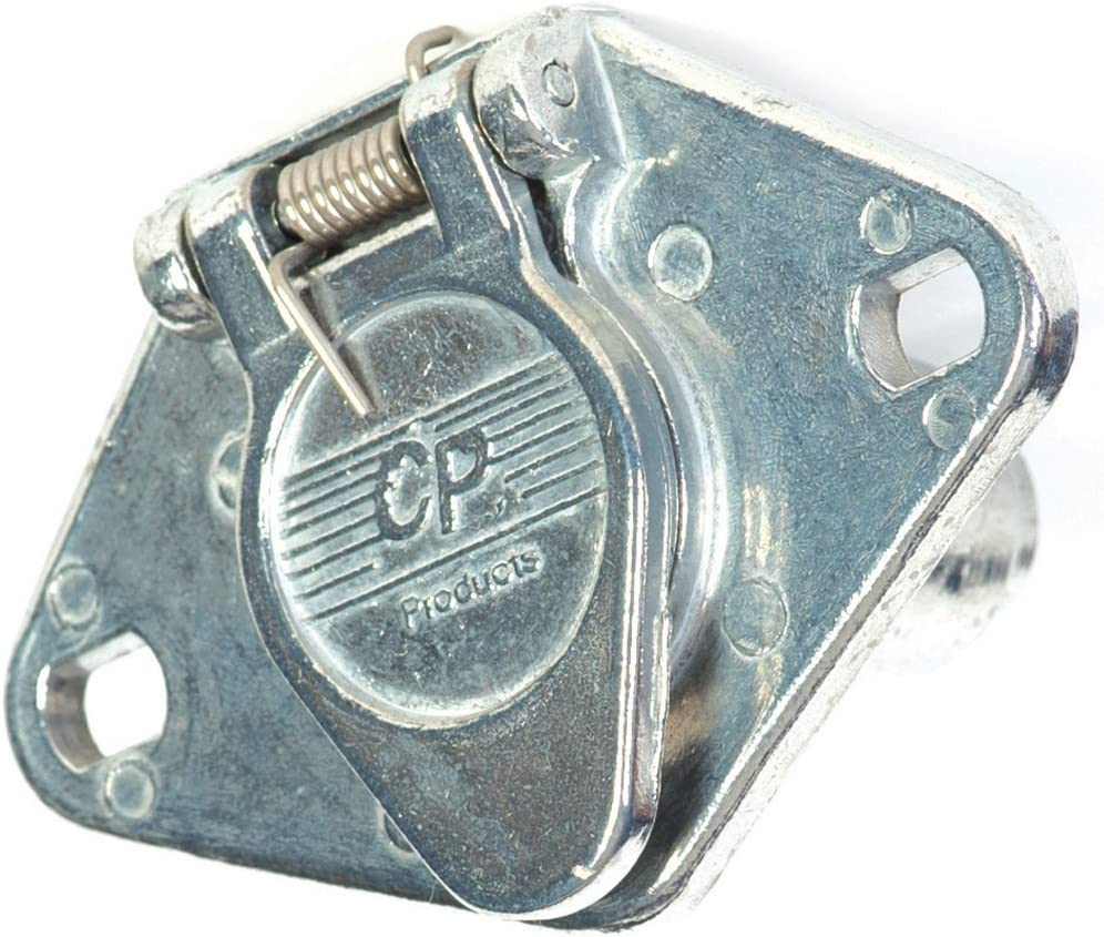 Husky 14623 4-Way Zinc Heavy Duty Trailer Connector for Car End