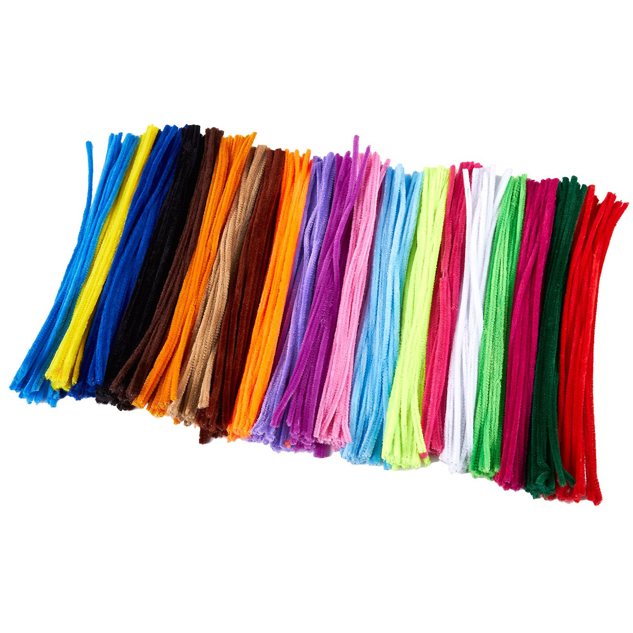Pipe Cleaners - 500-Count Chenille Stems for DIY Craft Projects, Creative Decorations, Kid Art Supplies, 20 Colors, 6 mm x 12 inches