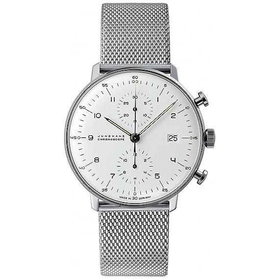 Junghans Max Bill Chronoscope 027/4003.44 - Reloj cronógrafo automático para hombre, correa de
