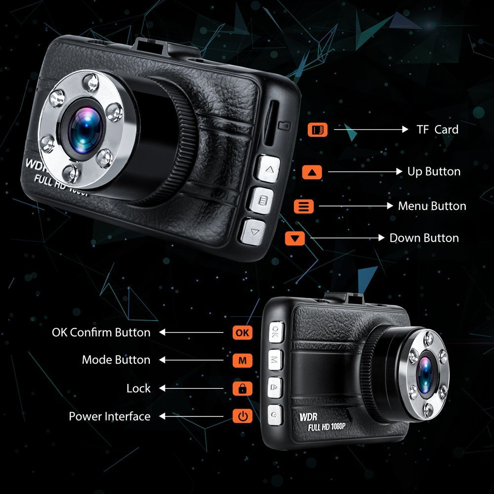 WDR 3.0 TFT Display,with Night Vision Loop Recording 3.0 TFT Display Greenpointselect Technology gp-ds-4 170 Degree Super Wide Angle Cameras Greenpointselect Dash Camera for Cars with Full HD 1080P Dash Cam