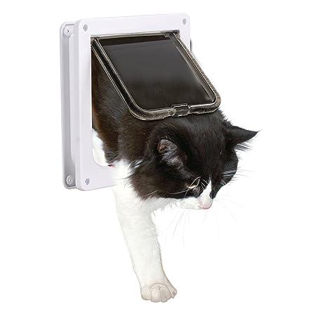 Pet Door Xguo Cat Flap 4 Way Locking Lockable Door Kit For Small