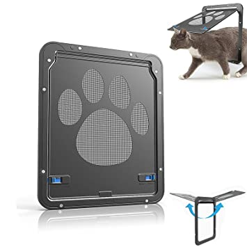 Qwhome Puerta De Malla para Mascotas Puerta Magnética para Gatos Puerta para Perros Pequeños Puerta De Entrada Y Salida Segura para Mascotas ...