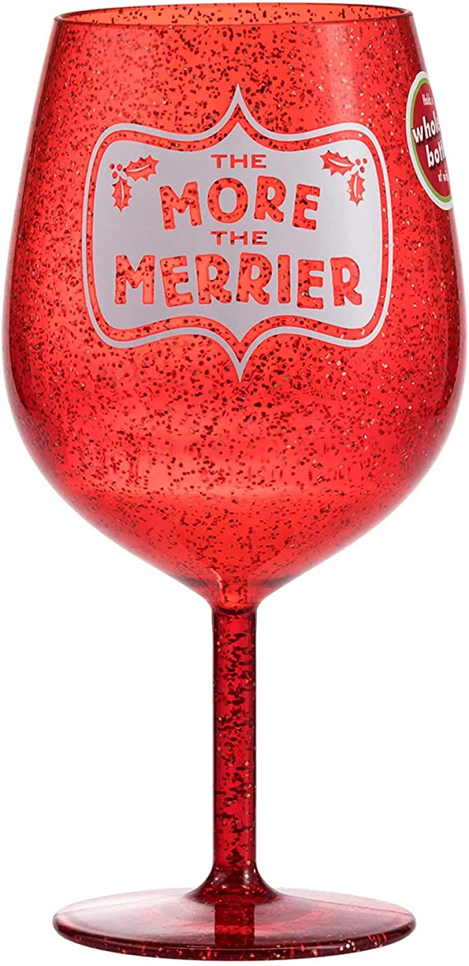 Smart at Mouth Ceramic Wine Goblet by Hallmark 1MAX9009 Maxine Young at Heart
