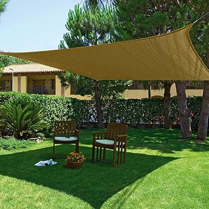 Vela Giardino Zona Ombra Terrazzo Quadrata 3.60X3.60Mt Ecru Sunnet ...