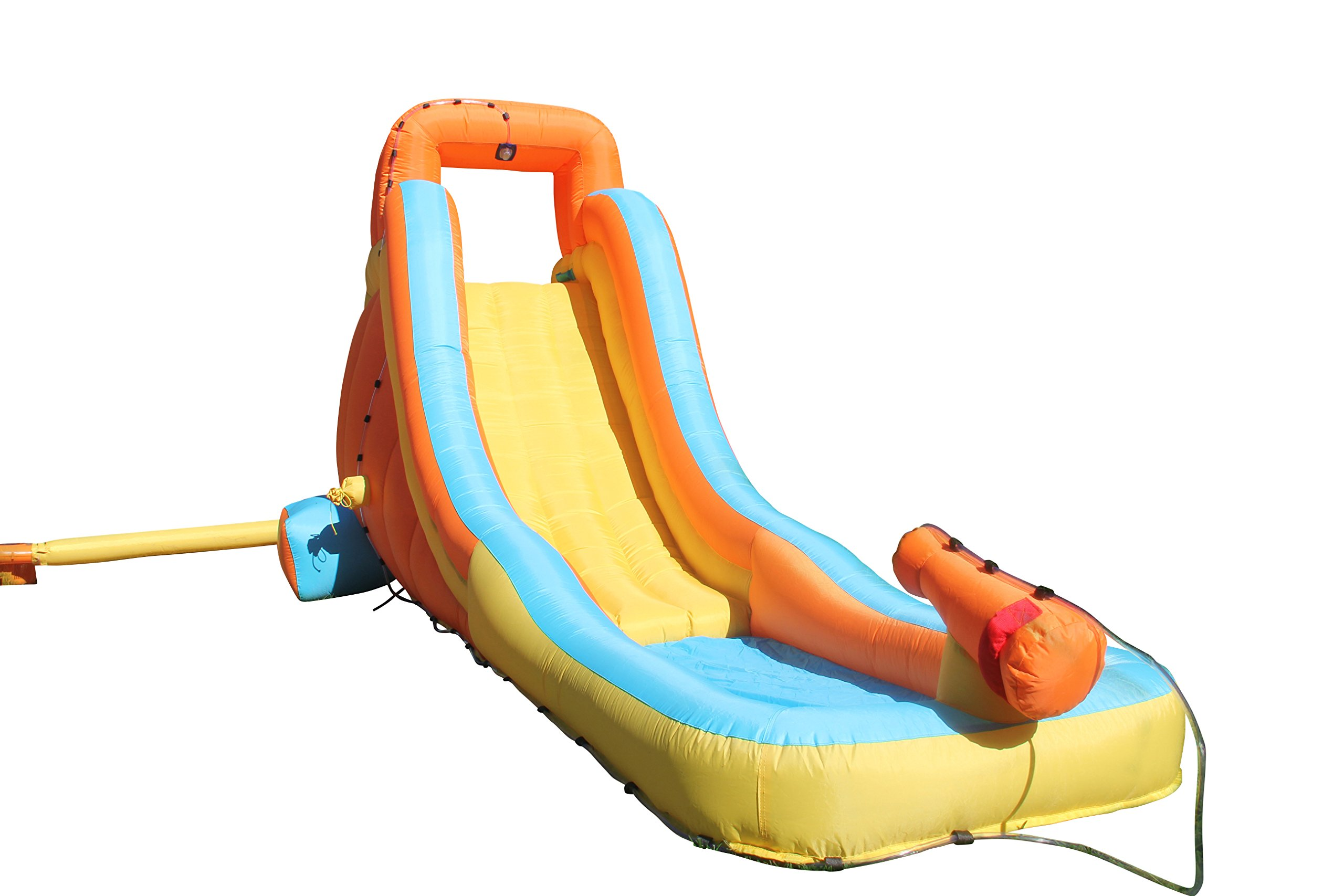 Sportspower My First Inflatable Water Slide - Heavy-Duty Outdoor Slide with Water Cannon and Splash Pool - Air Blower Included by Sportspower
