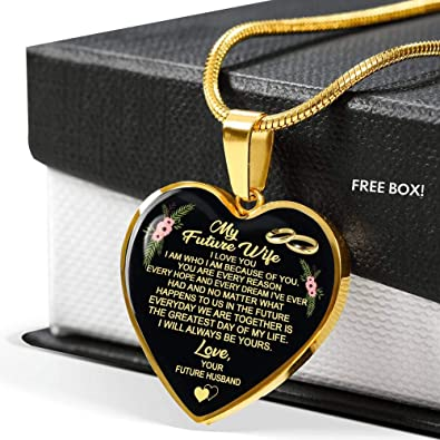 Amazon com: ThisYear My Future Wife Necklace Chain I Love