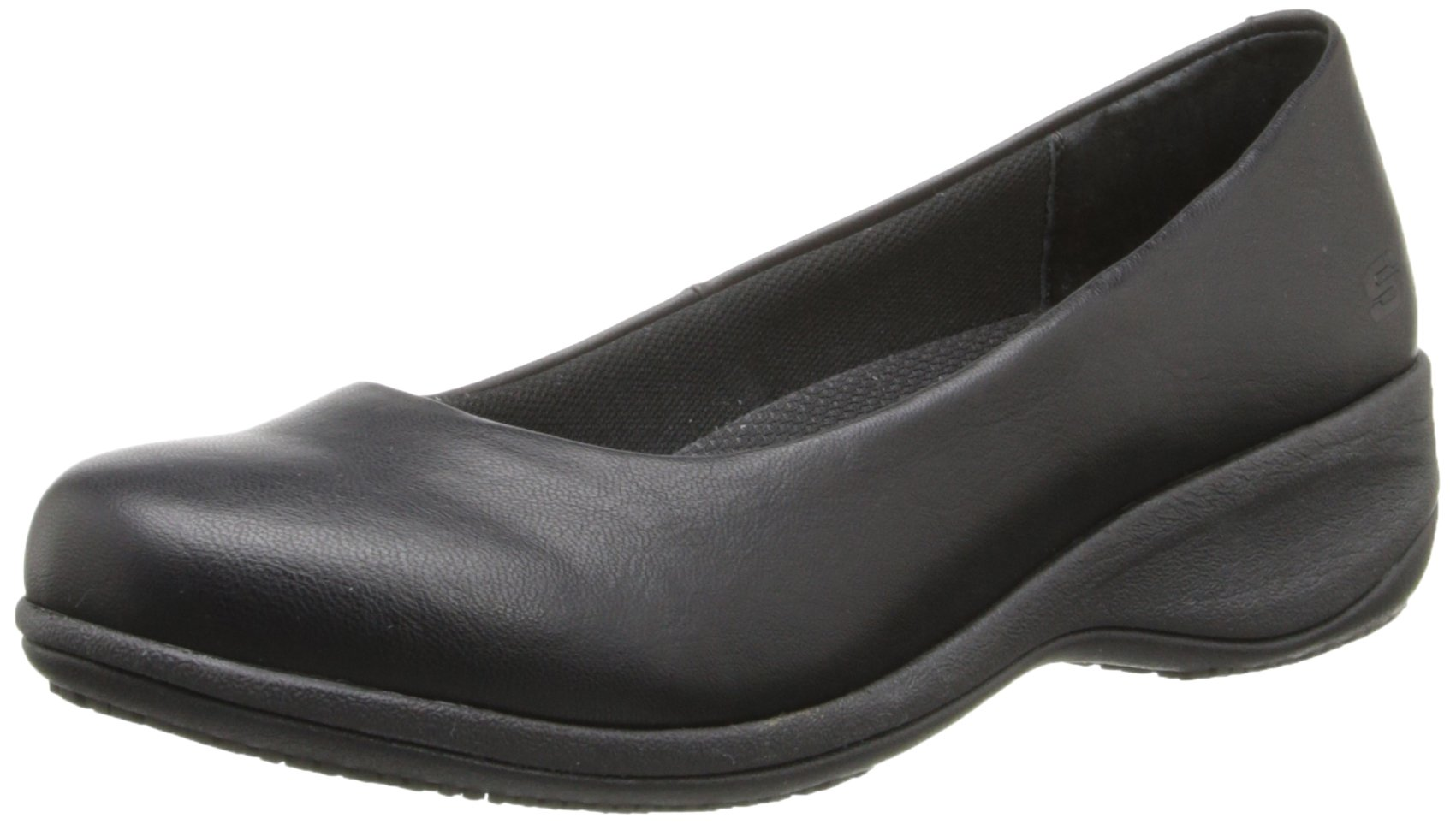 Skechers for Work Women's Mina Slip-On,Black,9 M US