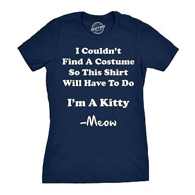 Womens Im A Kitty Meow Halloween Costume T Shirt Funny Cat Shirt For Women