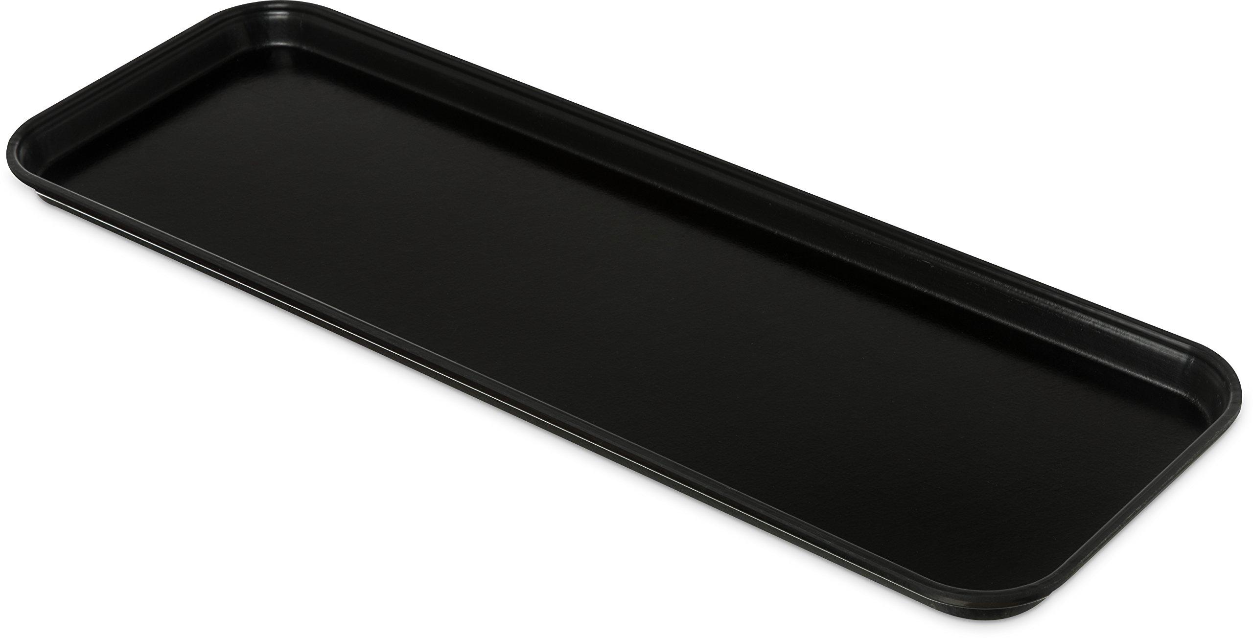 Carlisle 269FMT309 Food Service Display Tray, 9'' x 26'', Black (Pack of 12)