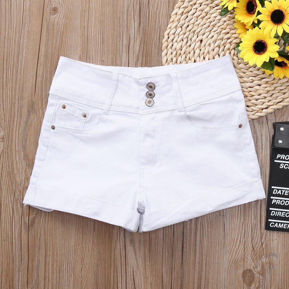 LMMET Pantaloncini Corti Donna Bermuda Donna Estive Pantaloncini Jeans Strappati Nero Blu Navy Bianco S//M//L//XL//2XL//3XL